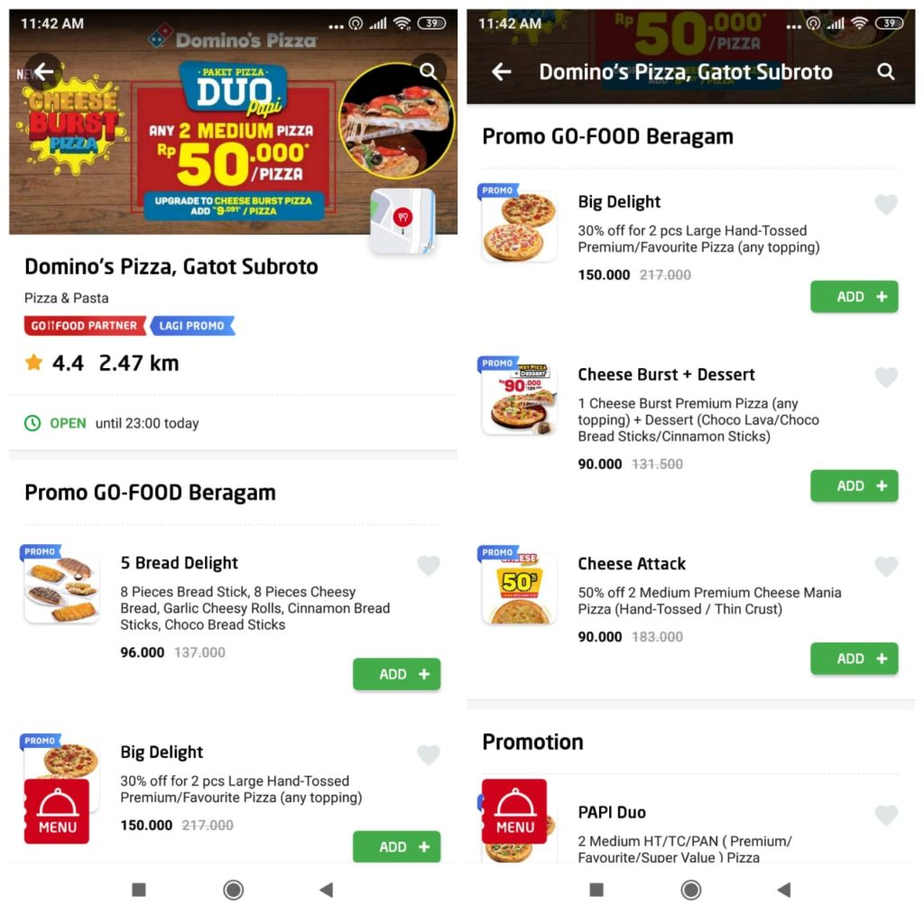 Domino's Pizza GoFood Promo